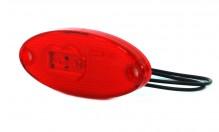 Svítilna diodová poziční červená LED 12/24 V