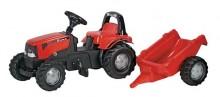 Traktor šlapací CASE CVX 1170 s návěsem ROLLY TOYS