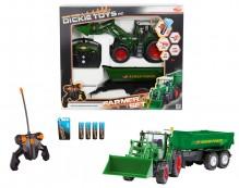 Dickie Toys RC Farmer set traktor FENDT s návěsem