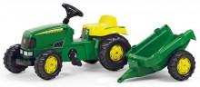 Traktor šlapací JOHN DEERE s návěsem ROLLY TOYS