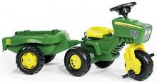 Traktor šlapací JOHN DEERE tříkolový s návěsem ROLLY TOYS