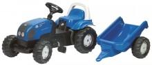 Traktor šlapací LANDINI POWERFARM 100  s návěsem ROLLY TOYS