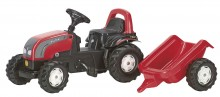 Traktor šlapací VALTRA s návěsem ROLLY TOYS
