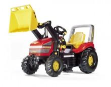 Traktor šlapací X-TRAC s čelním nakladačem ROLLY TOYS