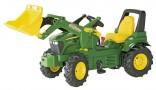 Rolly Toys Traktor šlapací JOHN DEERE 7930 s čelním nakladačem + převodovka + nafukovací kola
