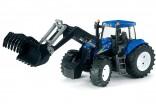Traktor NEW HOLLAND TG 8040 s čelním nakladačem BRUDER 03021