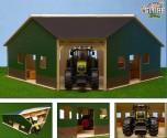 GLOBE FARMING Stavebnice přístřešek na zemědělské stroje 1:16