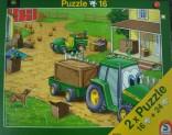 Schmidt Puzzle JOHNYHO farma SET 1 x 24 dílů, 1 x 16 dílků