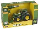 Traktor JOHN DEERE 6215R s čelním nakladačem a nářadím KLEIN 3903