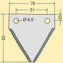 Žabka CLAAS 3″/2,7/83 mm horní drážkování
