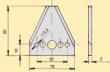 "Žabka TERRA, MF 3""/2/80 mm středová hladká"