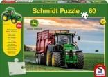 Schmidt Puzzle Traktor JOHN DEERE 8370R a návěs BERGMANN 60 dílků