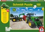 Schmidt Puzzle Traktory JOHN DEERE s míchacím vozem 150 dílků