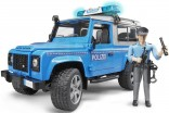 Auto LAND ROVER POLICIE BRUDER 02597 s figurkou WORLD