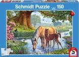 Schmidt Puzzle Koníci v potoce 150 dílků