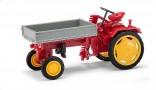 BUSCH 210005000 Traktor RS09 červený s přední korbou 1:87