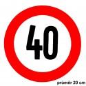 Samolepka konstrukční rychlost 40 km