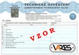 Technické osvědčení VARES nový vozík