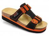 Obuv pracovní sandál LA PALMA JANA oranžový/černý