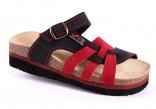 Obuv pracovní sandál TENERIFE JANA červený/černý