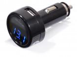 Nabíječka do auta MULTI - USB 12/24V, voltmetr, teploměr