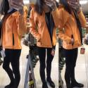ČERVA DVINA Bunda softshellová dámská oranžová