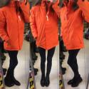 ČERVA WESER Bunda dámská zimní oranžová