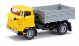 BUSCH 95547 Nákladní auto IFA L60 ZSK sklopka žlutá 1:87