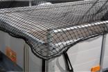 Síť ochranná na přívěsný vozík zesílená 2,5 x 4 m černá
