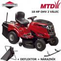 Zahradní traktor MTD LE 180/92 HYDRO + deflektor + nárazník