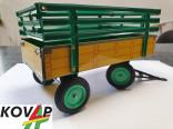 Přívěs traktorový vysoké bočnice žlutý KOVAP 0404