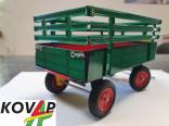 Přívěs traktorový vysoké bočnice zelený KOVAP 0404