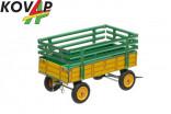 Přívěs traktorový vysoké bočnice žlutý KOVAP 40403