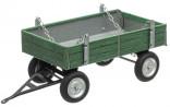 Přívěs traktorový nízké bočnice zelený MAN KOVAP 0432