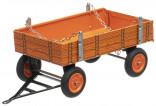Přívěs traktorový nízké bočnice oranžový KUBOTA KOVAP 0408