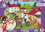 Schmidt Puzzle Jízdárna, koníci a stánek 100 dílů