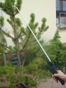 Postřikovací hliníková pevná tyč s pistolí o délce 0,8 m