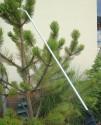 Postřikovací hliníková pevná tyč s pistolí o délce 2 m