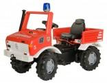 Dětské šlapací požární auto UNIMOG ROLLY TOYS 036639