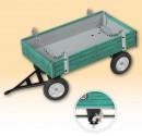 Přívěs traktorový nízké bočnice zelený KOVAP 0432