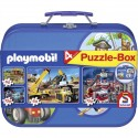 Schmidt Puzzle Kufřík PLAYMOBIL 4 druhy celkem 320 dílků