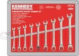 Sada klíčů kombinovaných 10 - 19 mm KENNEDY 9 dílná