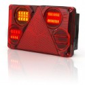 Svítilna zadní hranatá WAS LED 12V/24 393 W70DL