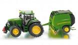SIKU 1665 Traktor JOHN DEERE 7530 s lisem JD 990 1:87