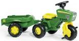 Rolly Toys Traktor šlapací JOHN DEERE tříkolový s návěsem