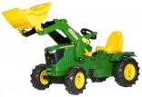 Traktor šlapací JOHN DEERE 6210 R s čelním nakladačem ROLLY TOYS