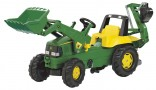 Rolly Toys Traktor šlapací JOHN DEER s čelním nakladačem a podkopovou lopatou
