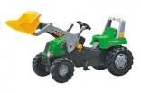 ROLLY TOYS Traktor šlapací RT zelený s čelním nakladačem